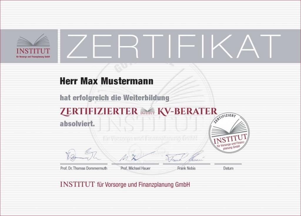 Seminar Private Krankenversicherung - Zertifizierter KV-Berater (ZKVB)