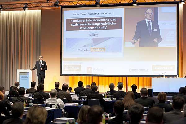 Prof. Dr. Thomas Dommermuth auf der Handelsblatt bAV-Tagung
