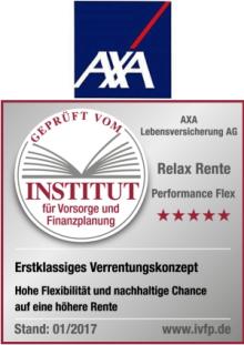 Gutachten AXA: Untersuchung der Produktreihe Relax Rente
